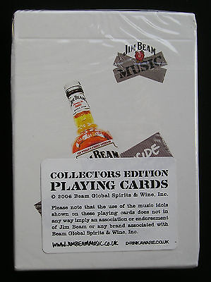 Jim Beam Music Collectors Edition Playing Cards X2 New And Sealed From 2006