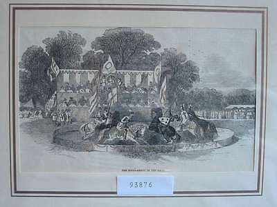 93876-Ritter-Knight-Tournament-T  Holzstich-Wood engraving