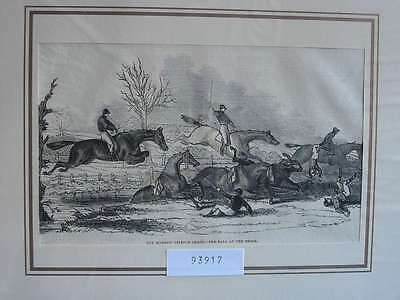 93917-Pferde-Horses-Reiten-Riding-Harrow Steeple-T Holzstich-Wood engraving