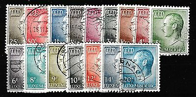 LUXEMBOURG 1965-91 USED VALUES 25c-20f