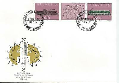 Switzerland Three First Day Covers  1962 1982 1987 Various Stamps  Ref 494