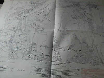 "Wouldham,halling,cuxton,borstall-Medway Kent: 6"" Os Planner's Map 1930's-40's"