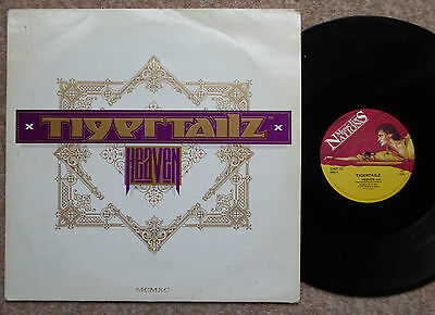 """Tigertailz Heaven 3 Track 1990  12"""" Single Textured Sleeve Excellent Condition"""