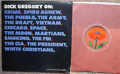 Dick Gregory On: Crime Spiro Agnew The Pueblo Army Draft Vietnam Etc Us Lp 1969
