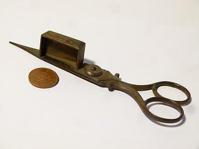 Antique Steel Georgian 19th Century CANDLE SNUFFERS Scissors