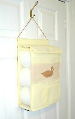 Hanging Toilet Roll Holder Organiser Storage bathroom fabric storage dispenser