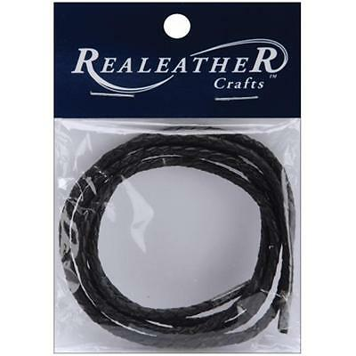 Silver Crew RBL0301-01 Round Braided Leather 3mm 40