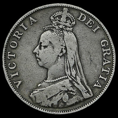 1889 Queen Victoria Jubilee Head Double Florin, Fine