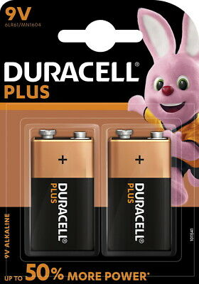 4 Duracell Plus Power 9V Block / MN1604 Alkaline Batterien im 2er Blister