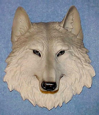 "9"" Gray WOLF Head Wall Mount Decor Wildlife Animals Bust Wolves"