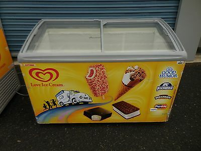 Aht Rio S 125 Sliding Top Merchandising Ice Cream Display Chest Freezer 4 Foot