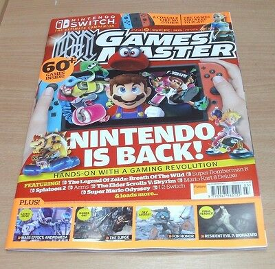 Games Master magazine MAR 2017 Nintendo Switch, The Surge, Mass Effect Andromeda
