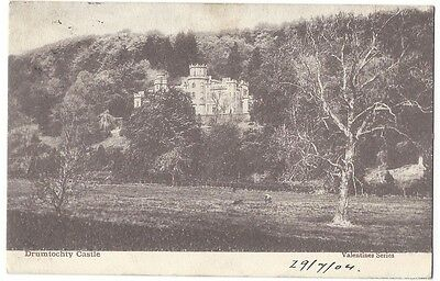 DRUMTOCHTY CASTLE Auchenblae, Old Postcard by Valentine Postally Used 1904