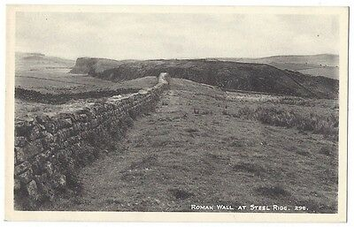 STEEL RIGG Hadrian's Wall, Northumberland, Old Postcard by Gibson, Unused