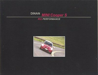 2006 Mini Cooper S Dinan R53 Performance Brochure my8178