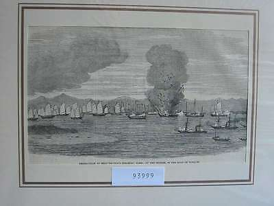 93999-Seefahrt-Schiffe-Ship-Gulf of Tonquin China-T Holzstich-Wood engraving