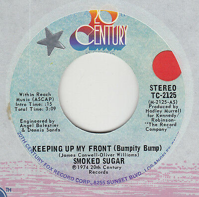 """70s Disco Funk Soul SMOKED SUGAR keeping up my front Rare U.S. 7"""" 45 MINT"""
