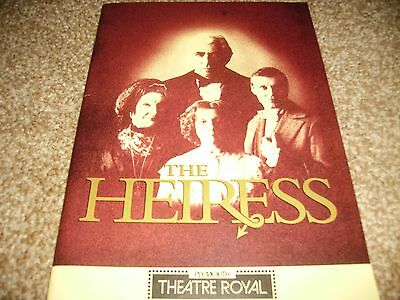 The Heiress Theatre programme Frank Finley