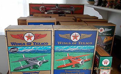 20 Piece Complete Collection Wings Of Texaco Airplanes  Nrfb Mint