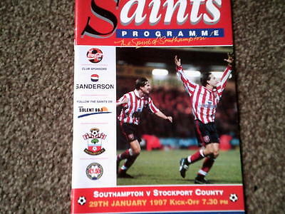 SOUTHAMPTON v STOCKPORT COUNTY,29.9.97.C.COLA CUP Q.FINAL REPLAY