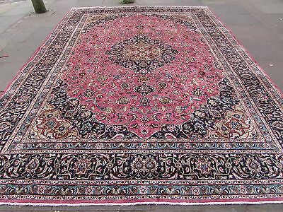Old Shabby Chic HandMade Traditional Persian Oriental Wool Pink Carpet 390x287cm