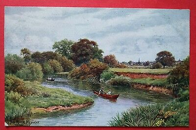 THE RIVER MEDWAY, TONBRIDGE, A. R. Quinton old postcard 1380