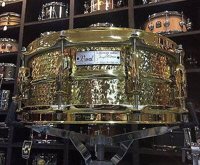 Pearl Jimmy DeGrasso Signature 14x5.5in Brass Snare - Pre-owned