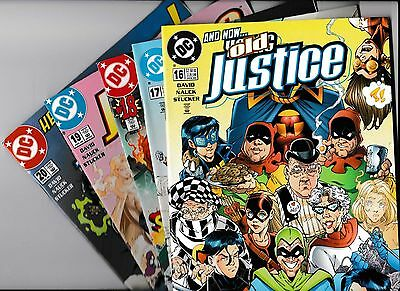 YOUNG JUSTICE SERIES 1 1998 NO's 16, 17, 18, 19 & 20 DC COMICS IN VGC