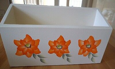 Hand Crafted and Hand Painted Orange Magnolia Single Letter Rack