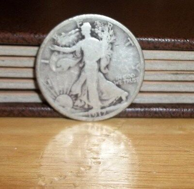 1917 P Walking Liberty Half Dollar 50 Cents Very Nice