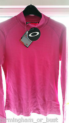 BNWT Womens Oakley Long Sleeved Hot Pink Golf Top 53262 UK S M L XL