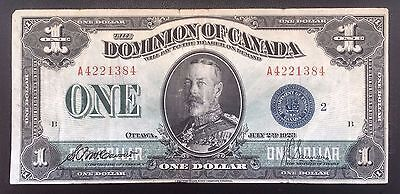 1923 Dominion of Canada $1 [McCavour-Saunders] Blue Seal - aF