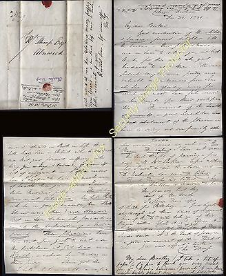1831 ARCHDEACON REVD CHARLES THORP letter from Durham College