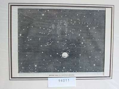 94011-Astronomie-Astronomy-Meteor seen Nottinghamshir-T Holzstich-Wood engraving