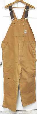 Carhartt Men's Cotton Duck Arctic Quilt Lined Bib Overalls (R03)-42 x 30 (New)