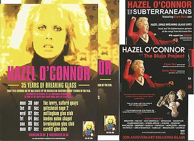 Hazel O'Connor 35 Years Breaking Glass Tour 2015 + Bluja Project Promo Flyer x 4