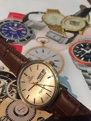 mens vintage omega seamaster Deville Watch Is Running But Will Need Servicing