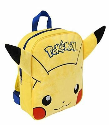 Pokemon Go Pikachu Plush Embroidered Kids Boys School Backpack Travel Bag