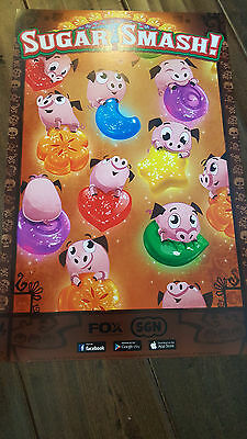 2016 Sdcc Comic Con Exclusive Fox Sgn Poster Sugar Smash Pigs And Candy Popular