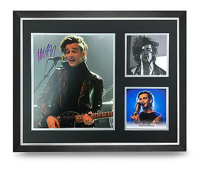 Matty Healy Signed Photo Large Framed 20x16 The 1975 Autograph Music Display COA