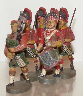 EC02 - Elastolin 70mm composition - British Scottish troops 5 pcs