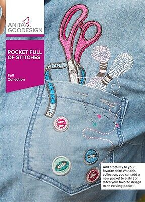 Anita Goodesign POCKET FULL OF STITCHES Full Collection 357AGHD - NEW SEALED