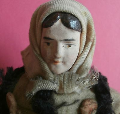 estate /lovely  victorian  french  doll  figure  paper  mache