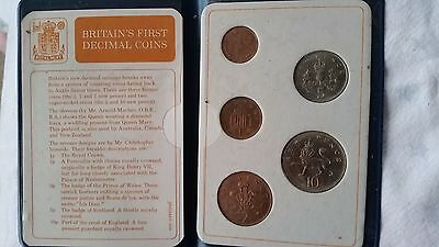 1971 Set Of Britains First Decimal Coins