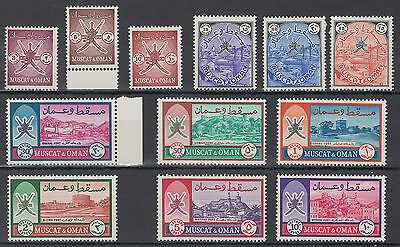 Muscat & Oman Mounted Mint; High CAT; SG 94-105; see both scans