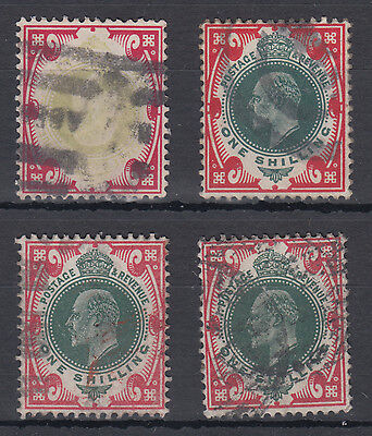 GB KEVII good 1s green and red Selection