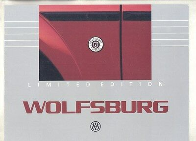 1985 VW Cabriolet Scirocco Vanagon Wolfsburg Limited Edition Brochure my6997