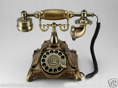 !New European Style High Grade Resin Cinnamon Antique Ancient Telephone