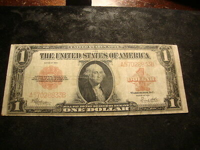 1923 Red Seal $1.00 Large Sized Silver Certificate United StatesType Note