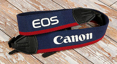 Smart Canon EOS Red Blue woven Wide Camera strap  FREE UK POST